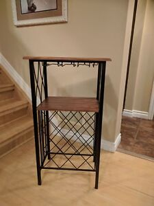 Wine and glass rack table