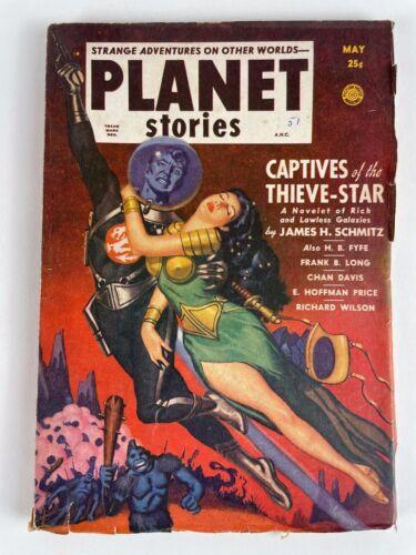 PLANET STORIES MAY 1951, Vol 4, #12, Schmitz, Price, Davis, Coe, Long, Fyfe +
