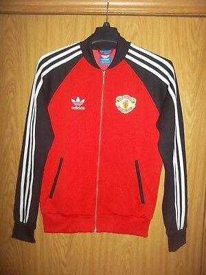 Manchester United Adidas Mens Size Medium Full Zip Up Track Jacket Euc