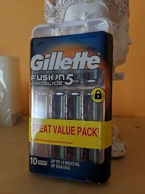 Gillette Fusion Proglide. 10 Cuchillas De Recambio.