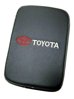 BRAND NEW TOYOTA Carbon Fiber Car Center Console Armrest Cushion Mat Pad Cover for sale  USA