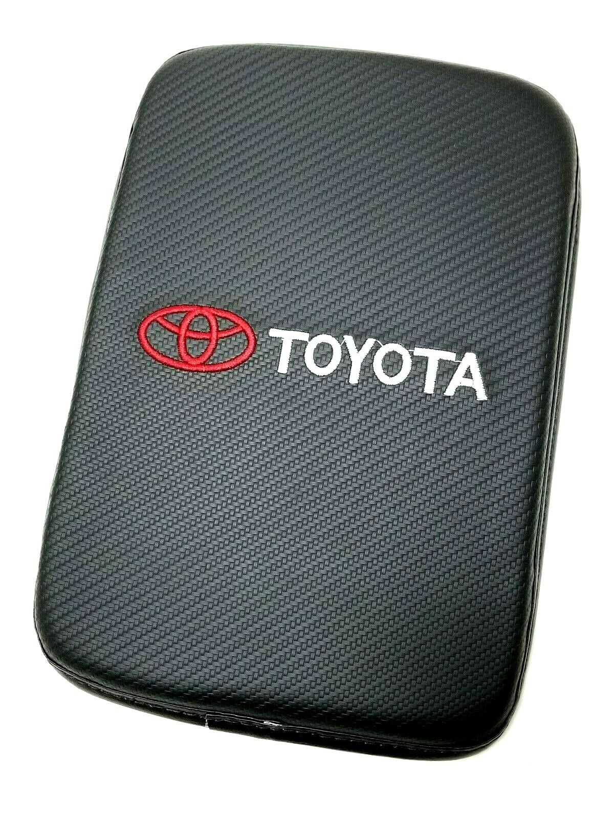 Car Parts - BRAND NEW TOYOTA Carbon Fiber Car Center Console Armrest Cushion Mat Pad Cover