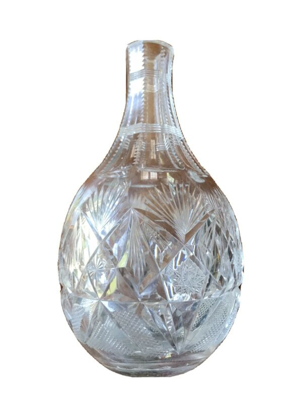 Antique Cut Crystal 19th Century Decanter
