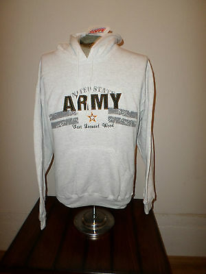 U.S. ARMY GRAY FORT LEONARD WOOD SWEATSHIRT HOODIE SOFFE SIZE X- LARGE