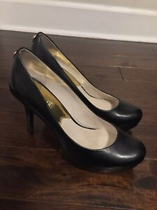 Michael Kors Black Leather Pumps / Heels / Stilettos Worn Once