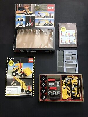 VINTAGE LEGO TECHNIC PNEUMATIC SET 8040 INTRODUCED 1984 - Original Box