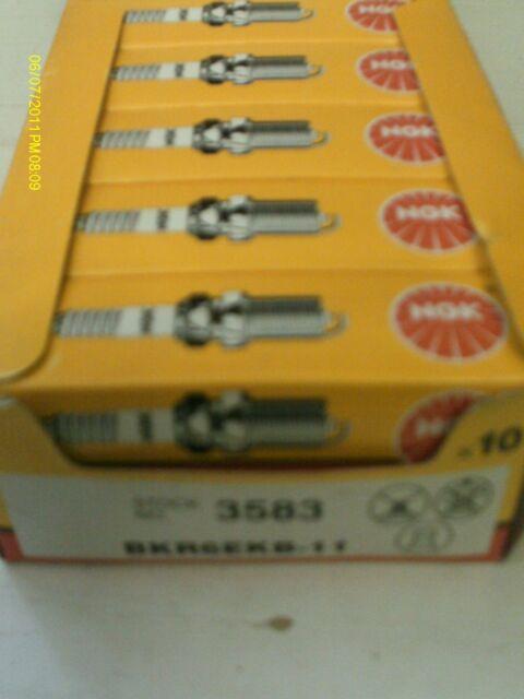 NGK BKR6EKB-11 SPARK PLUGS X 10 SPARK PLUG