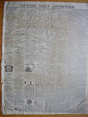 (Newark Daily Advertiser (NJ) newspaper, Dec 9 1868 Johnson State of the Union)