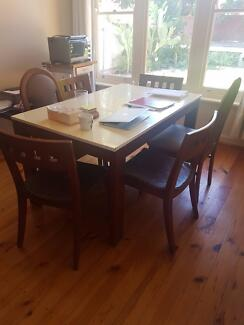 Dining table with 6 chairs, used, $90