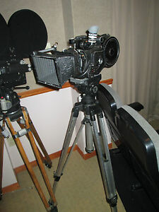 Arriflex 35BL Studio Camera Mitchell Tripod, Head, Matte Box, Magazine, Clean!