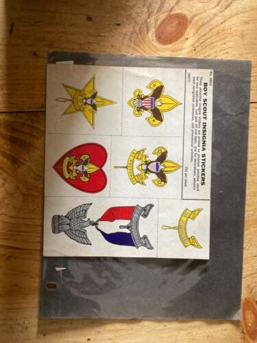 Vintage Boy Scout Insignia Stickers vintage