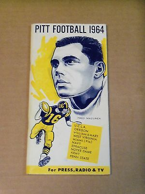 1964 Pitt Panthers  Football Media Guide  Complete