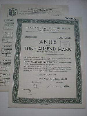 Deutschland - Union Credit AG   5000 Mark  1923  1/127-1