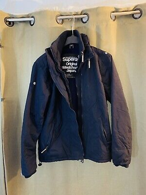 Superdry Original Windcheater Jacket Quilted Warm Dark Navy Size 2XL