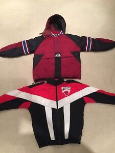 Vintage sports clothing and gear - jackets, hats. MLB, nba, nfl