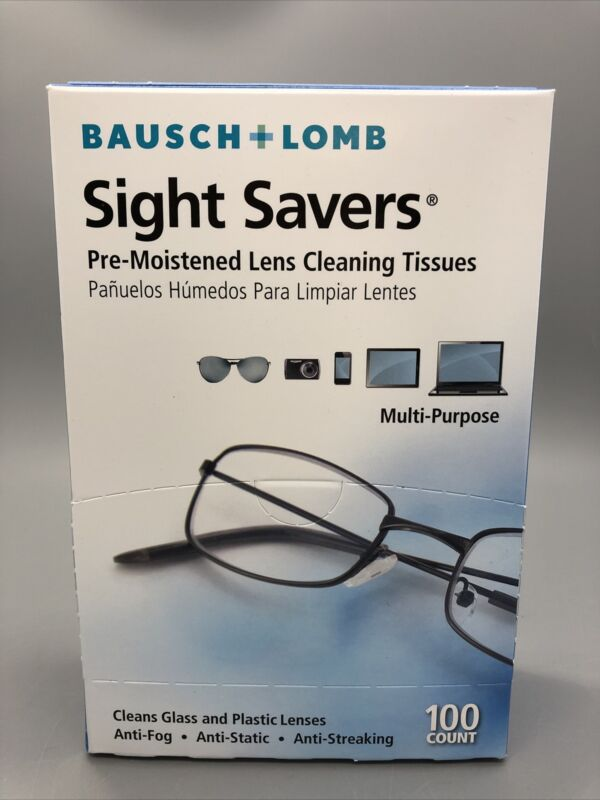 Bausch + Lomb Sight Savers Pre-Moistened Lens Cleaning Tissues