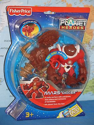 FISHER PRICE PLANET HEROES MARS DIGGER #4 ***BRAND NEW & RARE***