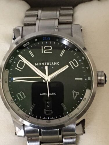 MONTBLANC Time Walker UTC Automatic Black Dial Stainless Steel Men's No Reserve