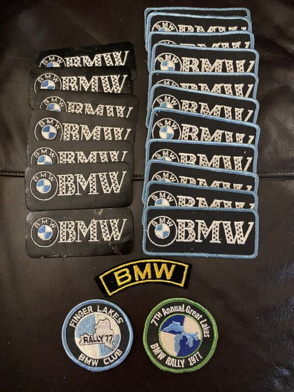 Lot Of Vintage BMW Motorcycle Jacket Patches