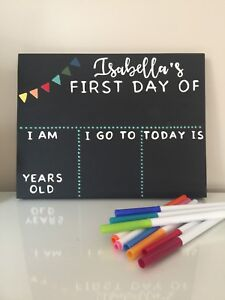 Personalized chalk board signs