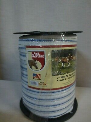 Field Guardian Classic Reinforced Polytape 2-inch White