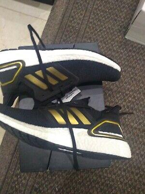 Adidas Ultraboost 20 black Metallic Gold UK 10
