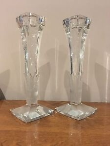 Tall glass candlestick holders London Ontario image 1