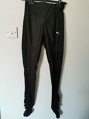 Puma Women's Gym Legging UK 10 Activewear Black Mesh