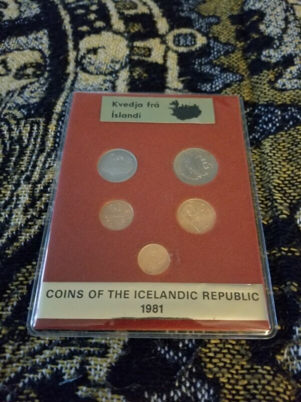 Iceland Mint Set 1981 - UNC Uncirculated