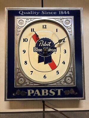 Vintage Pabst Blue Ribbon Beer Light Up Bar Clock