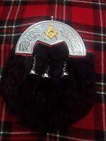 Hombre Completo Vestido Sporran Negro Conejo Piel Celta Borrén Trasero / Kilt -  - ebay.es
