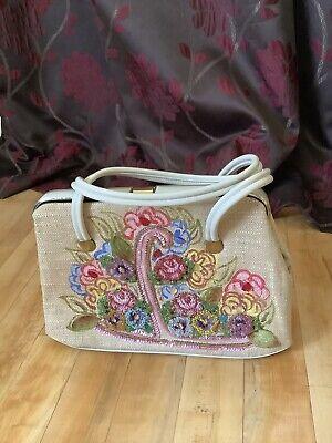 Hand painted vintage handbag EST 1950's