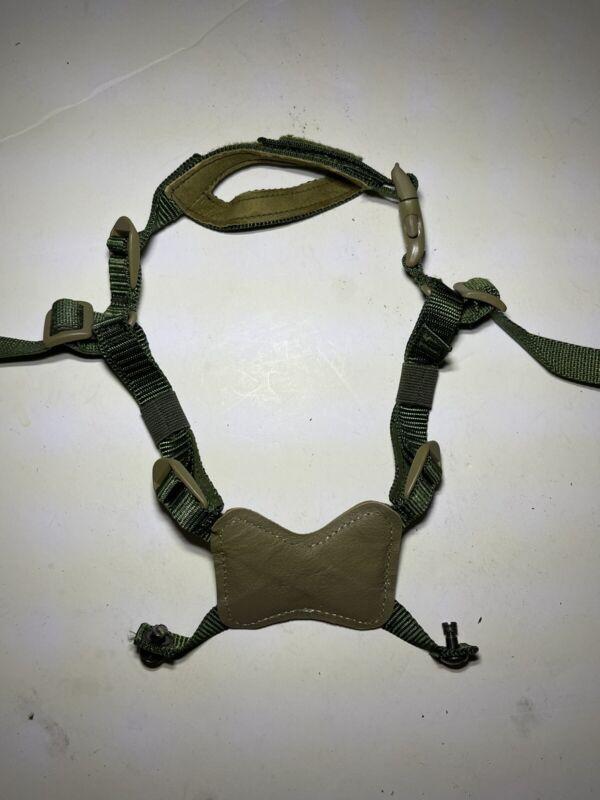 USMC Gentex Retention Helmet Chin Strap X Harness Green & Coyote Brown XLarge