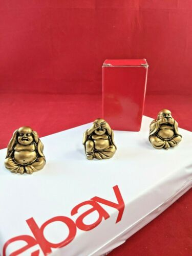 "Giftman Feng Shui Hear No Evil/ See No Evil /Speak No Evil/ 3 budha Statues 2"""