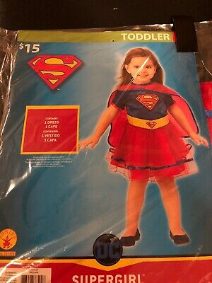 Halloween Costume Toddler girls Supergirl 2T or 3T - 4T