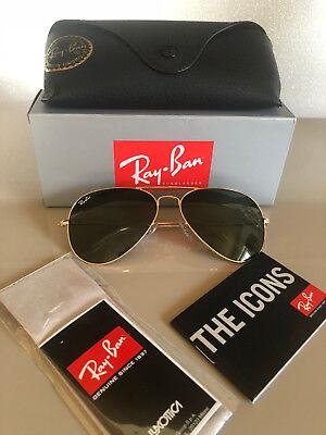 Aviator Sonnenbrille (WOW Ray Ban RB 3025 Aviator L0205 Größe 58 Sonnenbrille Pilotenbrille NEU&OVP)