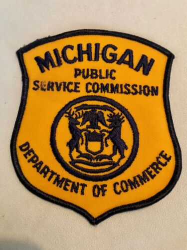State Michigan Police Patch Michigan Public Service Commission Dept of Commerce