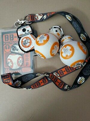 Funko Star Wars BB-8 Pop Episode Lanyard ID Holder & 2 BB-8 Keychains