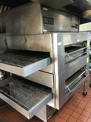 Middleby Marshall Ps 360swb Double Stack Gas Conveyor Pizza Ovens- Wide Body