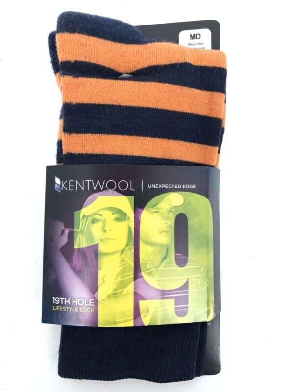 NWT Kentwool Size MD Unexpected Edge 19th Hole Lifestyle Golf Socks