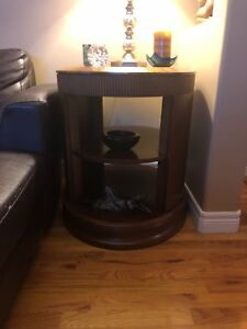 Wood coffee tables, TV table, oval shaped coffee table