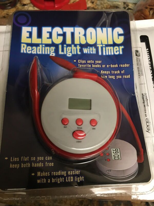 Scholastic INC, Electronic Reading Light with timer ~ New ~ Sealed