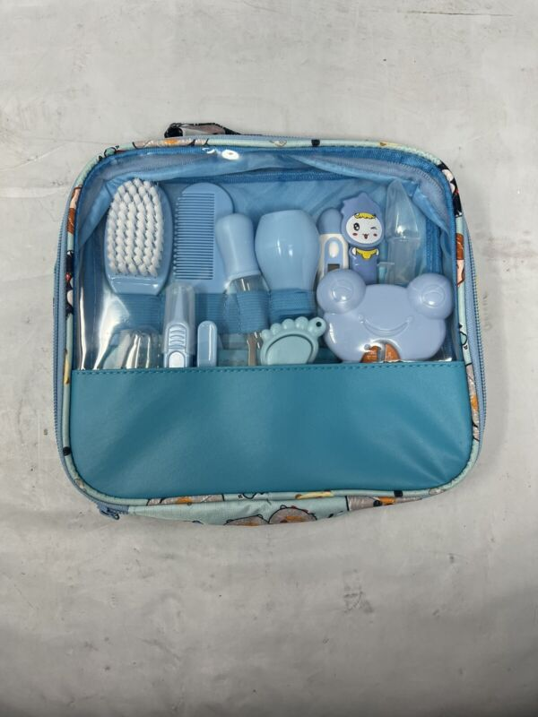 Baby Healthcare Grooming Kit, 13 in 1 Baby Care Products Nail 14 Pcs Blue
