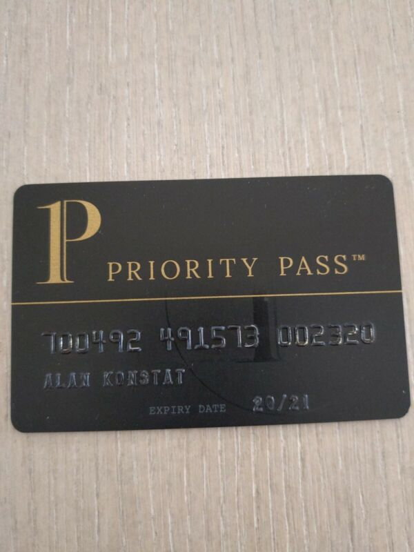 Priority Pass BLACK lounge access card