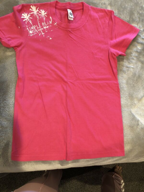Simple Plan Pink T-shirt - Size S