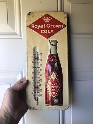"Vintage RC Royal Crown Cola Metal Advertising Soda Thermometer Sign 13"""