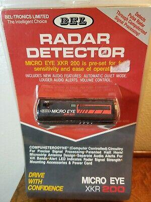 Vintage Bel Micro Eye XKR 200 Radar Detector NEW OLD STOCK POWER CORD