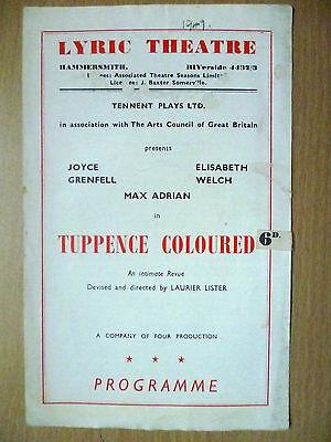 1947 Lyric Theatre Programme- Tuppence Coloured (Joyce Grenfell,Elisabeth Welch)