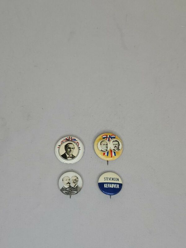 Vintage Political Campaign Pins, Lot Of 4  - F9