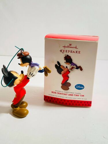Hallmark 2013 Keepsake Bob Cratchit and Tiny Tim Mickey
